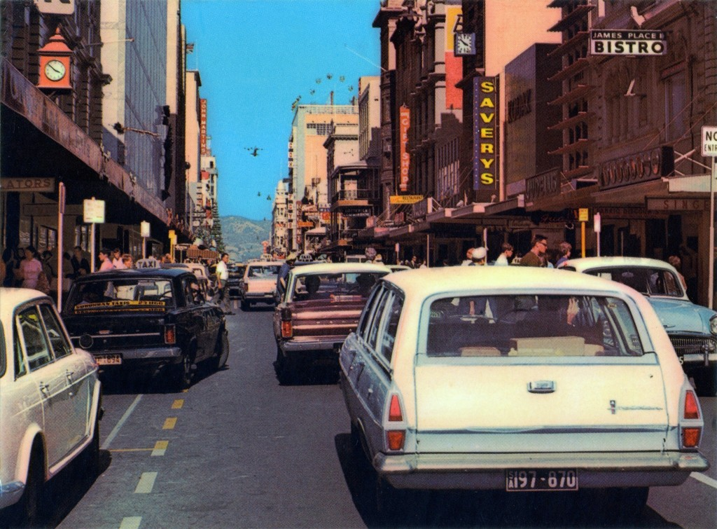 Rundle Street just before it was made into a mall