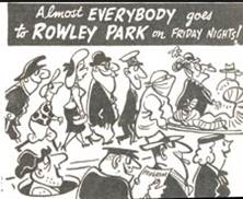The cartoon that appeared regularly on a Friday in the paper....Friday Night is Speedway Night at Rowley Park
