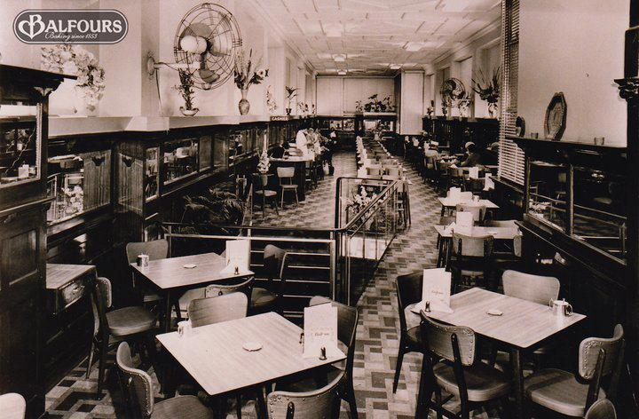 Photo courtesy of San Remo Macaroni Company Pty Ltd Balfours Tea Rooms in Rundle Street. A favourite place to have lunch in the city when shopping