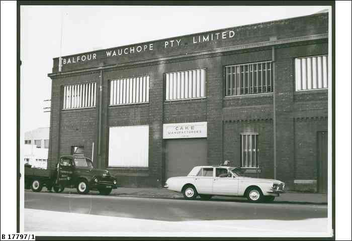 Photo from State Library of SA. The Balfour Wauchope Factory was a well know landmark in the city, on the corner of Franklin and Morphett Streets