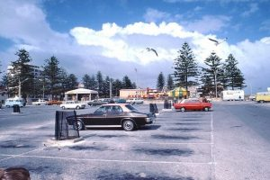 Photo shared by Steve Arnd from ARW Facebook. The old car park at the Glenelg beach, many a lost Saturday  night spent parking there.