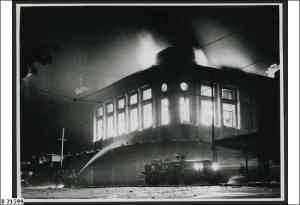 Photo from the State Library of SA. In 1948 Moores was destoyed by one of the most spectacular fires ever seen in Adelaide