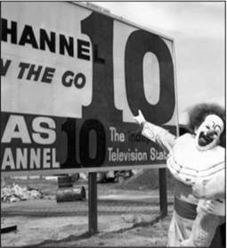 Photo from Channel 7 (formerly Ch 10). Bobo was used heavily to promote the opening of the new Channel 10