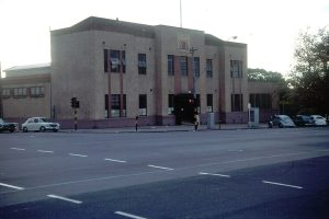 Photo by Frank Hall. The City Baths just before the building was demolished in 1969