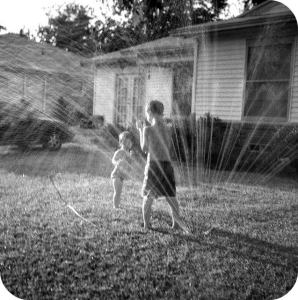 Photo Google Images. There were times when it was just too hot to head off somewhere and on those days we'd make do with the sprinkler on the lawn,  getting totally saturated and staying cool.