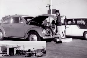 """Mel Barton-Ancliffe shared this photo; """"As a 13 year old, I worked after school on Fridays and Saturday mornings at the Atlantic, then Esso Service Station on Marion Road South Plympton. The servo was owned by Mrs M. Bush, who I was very fond of. Her daughter Ilze is pictured"""