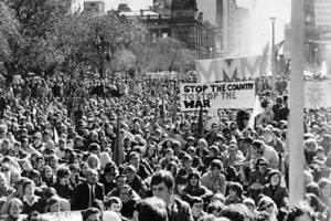 An anti-Vietnam War demonstration in Victoria Square, Adelaide, 1971. [National Library of Australia pic-vn4268191]