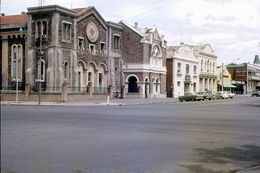 Photo courtesy of Frank Hall. The old ABC buidings in the eastern side of Hindmarsh Square
