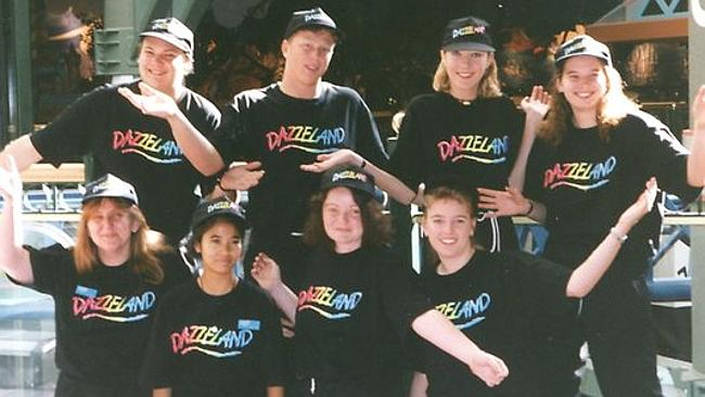 Dazzeland staff in the 1990s. Picture courtesy of Myer Centre Adelaide.