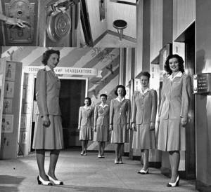 Photo from ARW FB contributor. Female elevator operators ready to go to work