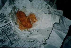 Photo from Google Images. I'm sure fish and chips tasted better when they were wrapped in newspaper