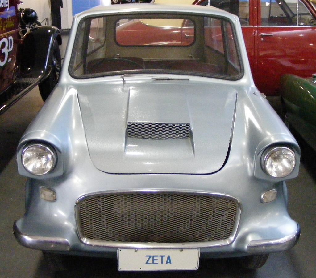 Photo from Wikipedia. , Australia's 'micro car', manufactured by Lightburn industries, the Zeta Sedan