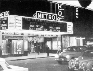 Photo from the State Library. The Metro was closed in 1975 and completely changed by Greater Union - it was painted purple and reopened as Hindley Cinemas.