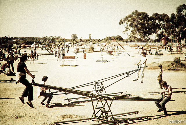 Photo from John Goodridge, Flickr Photo Sharing. Thousands of children and adults swarmed to the park near Berri every year. It was just as much fun for the adults as it was for the kids