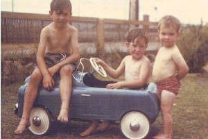 Photo from the Advertiser. There were always lots of other kids to play with. This picture from 1956 shows some boys sharing rides in a Cyclops pedal car