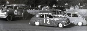 "Photo thanks to 'Down Memory Lane With Noel O'Connor' ""The thrill and excitement of driving on the quarter-mile oval track, paved with dirt, shell grit and other materials was worth it."""