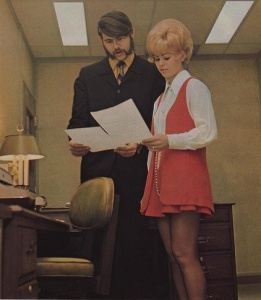 Photo from Pinterest. Ahhh yes, the 70s in the office. You had to be there!!
