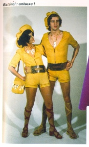 Photo from Pinterest. Unisex fashion. Thank God it never really took off!