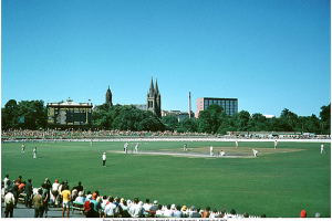 Source: Serendigity's Photostream on Flickr. My favourite photo of the 'world's prettiest cricket ground' taken in 1972.