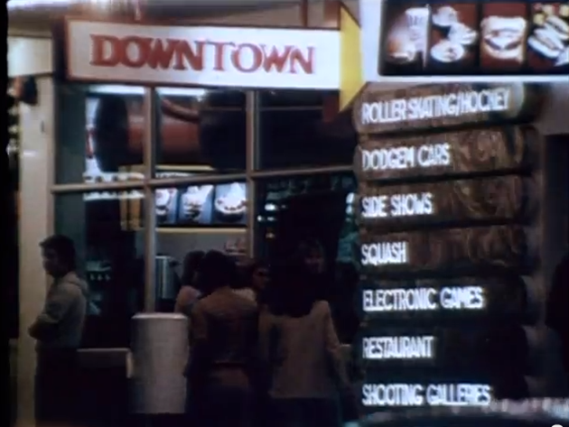 Downtown, from You Tube. Most people remember the roller skating but in fact there were a number of games and activities.