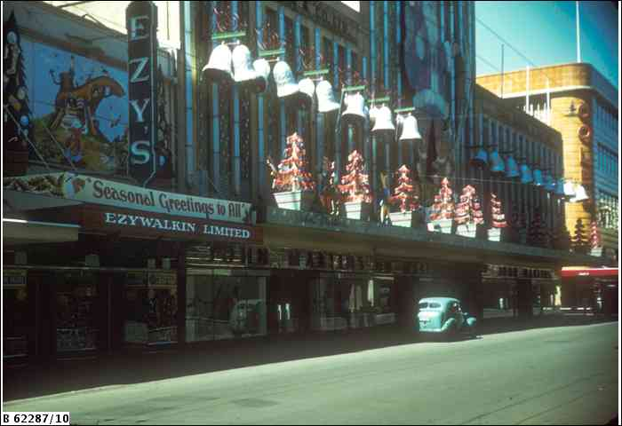 Photo from the State Library of SA. It was a strong competition each year to see which of the big stores could come up with the best Christmas decorations.