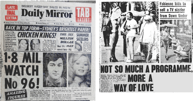 News Headlines from the Sydney Daily Mirror newspaper. From the outset it was controversial in the extreme., but attracted a huge audience every night.
