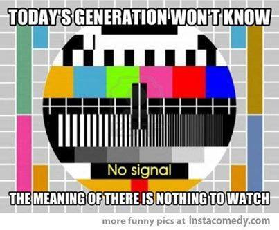 TV test patterns came on at night after the last show had finished and again in the morning before transmission started