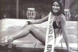 Jane Reilly, popular TV and radio presenter. Jane was Miss Australia Beach Girl in 1974