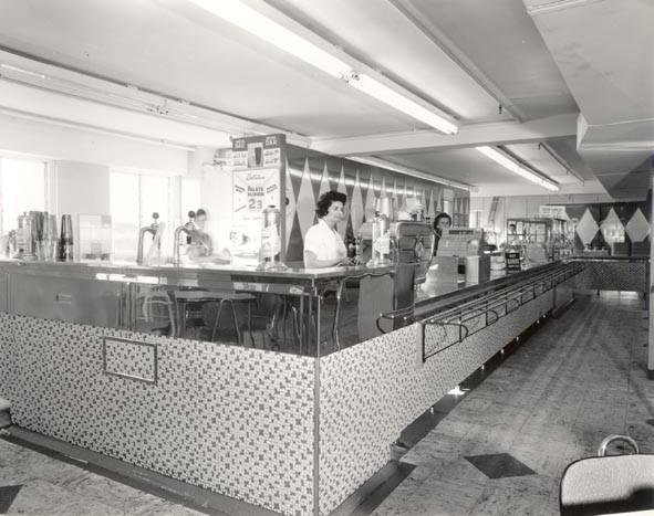 Photo from ARW. To a young child Coles Cafeteria was indeed a wondrous place. It always seemed so large, so many tables and so crowded.