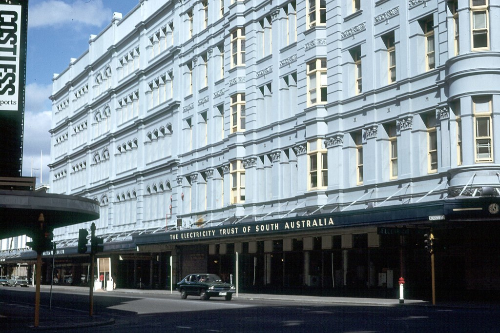 Photo courtesy of Frank Hall. Previously Foy and Gibsons and the Grand Central Hotel, the building then housed several government departments until the mid-70s