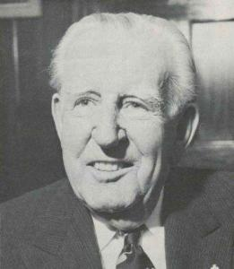 Sir Edward Hayward of John Martins, instigator  of the annual Christmas Pageant and recognised as South Australian Father of the Year, despite having no children