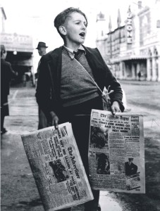 A newspsper boy in the 50s. I doubt that kids today would be able to do it. Quite apart from safety issues, there would be concerns and even accusations about childhood exploitation and mistreatment.