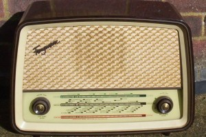 An early model valve radio. We called it 'the wireless' when we were kids