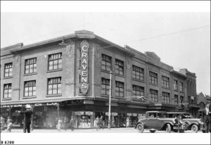 Cravens Department Store. Photo courtesy of State Library of SA