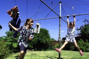 Photo from News Ltd. Remember going for a swing or a 'whizzy' with siblings or friends, on mum's Hills Hoist clothes line.