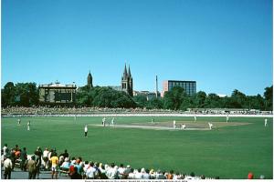 Source: Serendigity's Photostream on Flickr. My favourite photo of the 'world's prettiest cricket ground' taken in 1972.