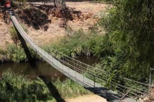 A property developer built the bridge so St Peters residents could cross the river to access his land sale and catch the Walkerville tram