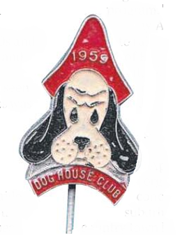 Photo from the Advertiser. The 5AD Dog House Club badge from 1959.