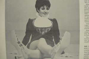 A newspaper cutting of Anne Wills during her television days