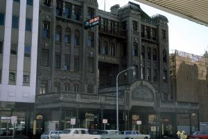 The Bowman Buikding and Arcade in King William Street, just near Currie Street. Demolished in the 1970s